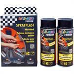 DUPLI COLOR Set Sprayplast Abziehlack schwarz glänzend Sprühdose