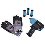 HAZET Schlagschrauber Set 9012EL-SPC und 903SLG-17/3 und Handschuhe
