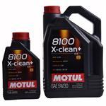 5 Liter + 1 Liter  Motul 8100 X-clean+ C3 5W30 Motorenöl VW 504 00 und 507 00 LL