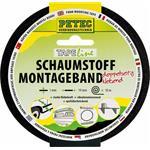 Petec Schaumstoff Montageband schwarz 10 m