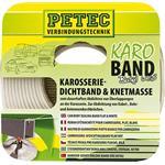 Petec Karo Band Butyl flach weiß 20 mm x 3 m